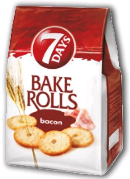 7 Days Bake Rolls kenyérchips nagyker 70-80-90 g fokhagymás - sós rágcsálnivaló és édesség nagyker