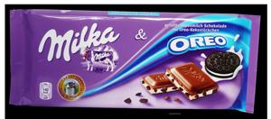 milka csokoládé nagyker-oreo-tejkrémmel töltött kekszdarabos-Budapesten édesség nagykereskedésben