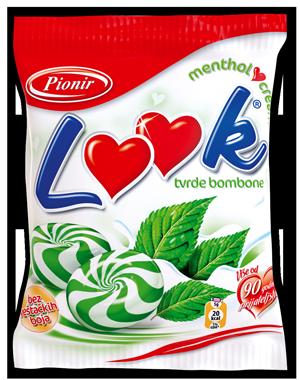 Pionir Look kemeny cukor ár-mentolos tejszínes cukorka-budapesi édesség nagykereskedésben