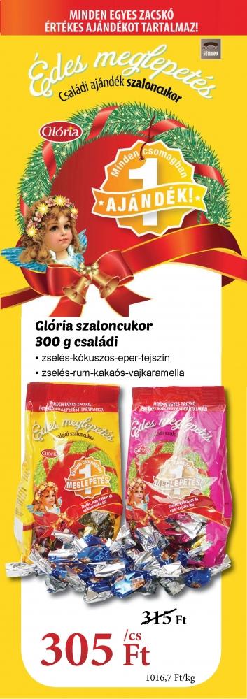 Glória családi szaloncukor nagyker árakon - ajándék minden egyes csomagban!